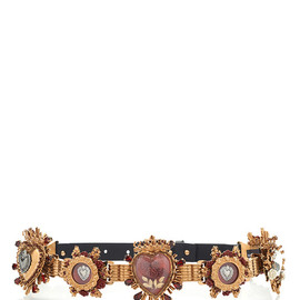 DOLCE&GABBANA - SS2015 Small Sacred Heart Belt In Gold Multi