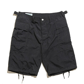 SASSAFRAS - Trug Fatigue Pants 1/2-T/R Plane Weave-Charcoal