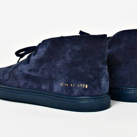 Common Projects - Common Projects Navy Suede Chukka Boot