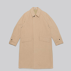 AURALEE - Washed Double Cloth Long Coat-Beige