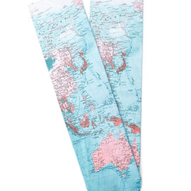 FOREVER 21 - Abstract Brushstroke Print Crew Socks