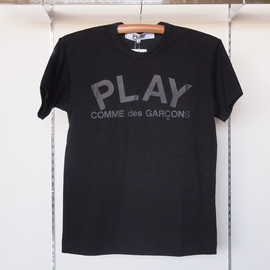 PLAY COMME des GARCONS - 綿天竺プリントT-Shirt #black