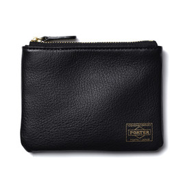 "HEAD PORTER - ""CALVI"" MULTI WALLET BLACK"