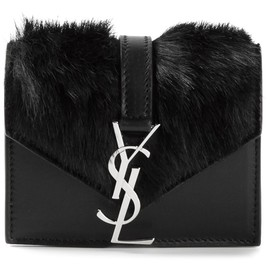 SAINT LAURENT - Black leather 'Monogramme' shoulder bag
