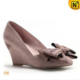 cwmalls - Women Leather Wedges Shoes CW275247 - cwmalls.com