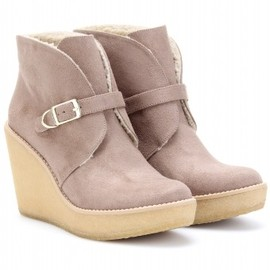 Stella McCartney - KICKAPOO FAUX SUEDE ANKLE BOOTS