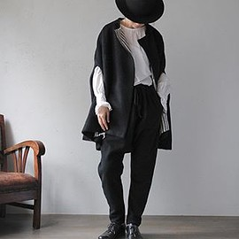 asymmetry wool vest