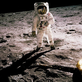 One small step - Man on moon