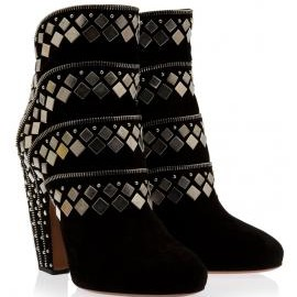 ALAIA - Stud and Zip Ankle Boots