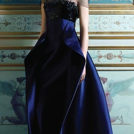 Giorgio Armani - GOWN DRESS/NAVY_Armani