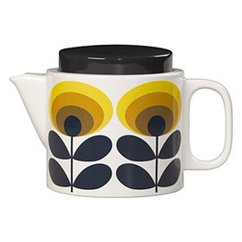 Orla Kiely - 70's Oval Flower Teapot Yellow