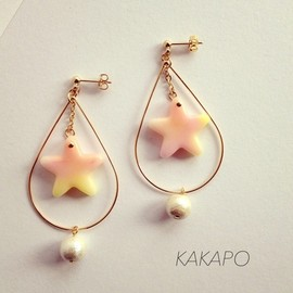 KAKAPO - Two swings P × YE star pierce (NO.760)