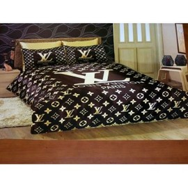 LOUIS VUITTON - BEDDING SET SATIN ( DUVET SET )