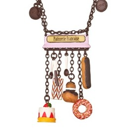 N2 - N2 Chocolate/Pink French Patisserie Charm Necklace