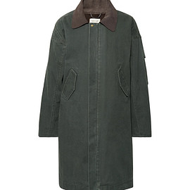 Fear of God - Oversized Suede-Trimmed Faux Shearling-Lined Canvas Coat Select