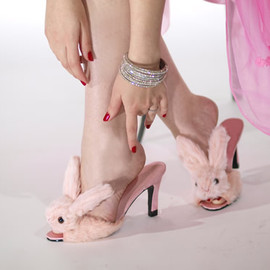 Streetzie - high heel bunny slippers