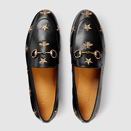 GUCCI - Gucci Gucci Jordaan embroidered leather loafer  Detail 3
