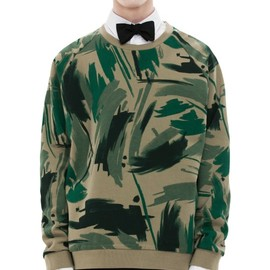 Acne - AW13 Brian Print Green Camoflage sweat shirts