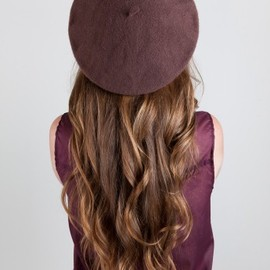 American Apparel - Unisex Wool Beret in Mocha