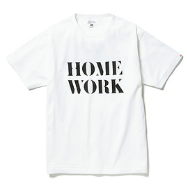 HEAD PORTER PLUS - HOME WORK TEE WHITE