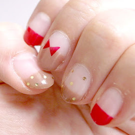red bow nails♥︎