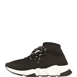 BALENCIAGA - Lace-Up  Speed Trainer Sneakers