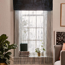 Slide View: 1: Arianna Velvet Fringe Window Panel