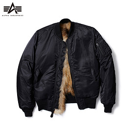 SOPHNET. - ALPHA x uniform experiment RACCOON FUR LINING MA-1