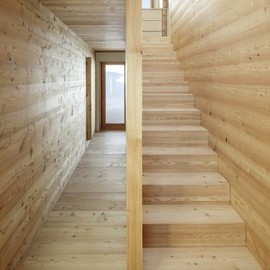 Roman Hutter Architektur - Stairs at the House in Reckingen, Switzerland