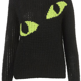 TOPSHOP - **Eyes Handknit Sweater by J.W. Anderson for Topshop