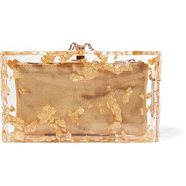 Charlotte Olympia - Pandora foil-embellished perspex clutch
