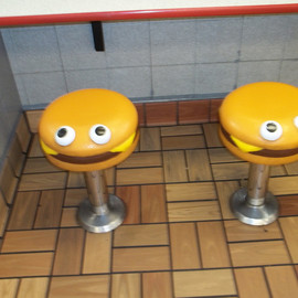 McDonald's - hamburger chair