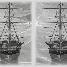 Fine Art America - Brian Wallace - Ghost Ship - Gently cross your eyes and focus on the middle image Photograph  - Ghost Ship - Gently cross your eyes and focus on the middle image Fine Art Print