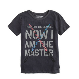 J.CREW - STAR WARS FOR CREWCUTS TEE IN GLOW-IN-THE-DARK JEDI MASTER