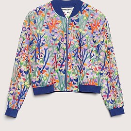 gorman x monika - printed burnout bomber jacket