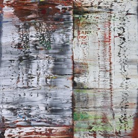 Gerhard Richter - Abstract Painting(1990) : oil on canvas, 225 cm x 200 cm