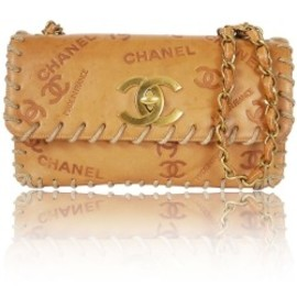 CHANEL - Chanel Vintage Vache Leather Logo Flap Bag Price For Sale Deals by themik1