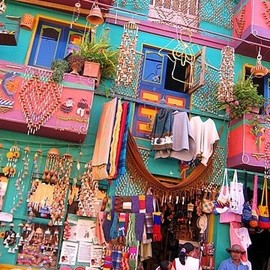 Raquira Colombia - colorful apartment