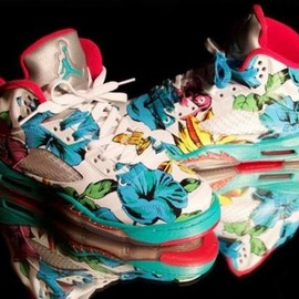 "nike - Air Jordan 5 ""Floral"" Custom By El Cappy"