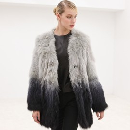 AR - AR AR6-1-1-001-1020 FUR COAT GREY