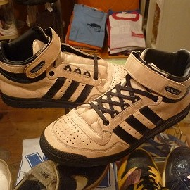 """adidas - 「<used>'93 adidas CONCORD MID beige/black""""made in MOROCCO"""" size:25.5cm 7800yen」完売"""