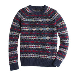 J.CREW - LAMBSWOOL FAIR ISLE SWEATER