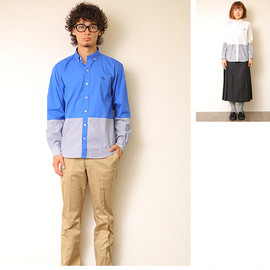 S&nd - broad×stripe shirts