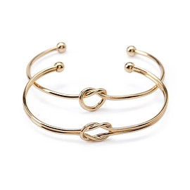 FOREVER 21 - Twisted Cuff Set