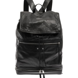 BALENCIAGA - Traveller leather backpack