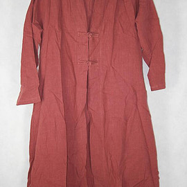 brick red coat - Women Loose brick red coat long shirt large size gown
