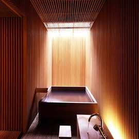 Kengo Kuma Architect - Wooden Bathroom