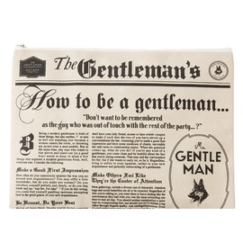mr gentleman - NEWS PAPER CLUTCH BAG