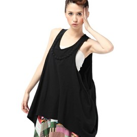 ANREALAGE - BLISTER PEAPL TANK TOP