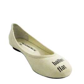 slow and steady wins the race - Ballet Flat in Natural
